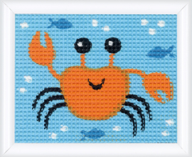 Krab Voorbedrukt borduurpakket - Vervaco
