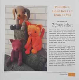 Poes Mies, Hond Kees en Teun de Vos patroonboekje