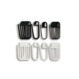 Steekmarkeerders zwart/ wit Seeknit