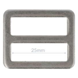 25mm Gesp metaal Oud Zilver