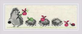 Hedgehogs Aida Borduurpakket Riolis