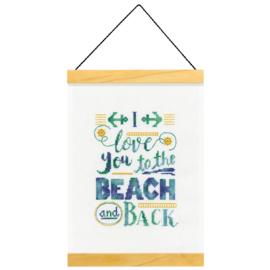I love you to the beach and back Aida borduurpakket - Dimensions