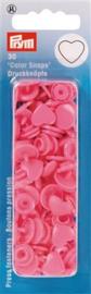 Roze Hartjes Color Snaps Ronde Drukknopen Prym