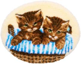 Kittens in mand Knooppakket Vervaco