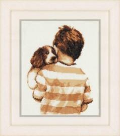 Jongen met Puppy Aida Vervaco Telpakket