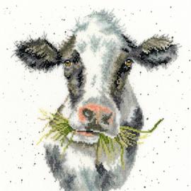 Milk Maid Aida Wrendale Designs by Hannah Dale Bothy Threads Telpakket