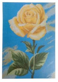 Yellow Rose on Blue telpakket Aida Lanarte