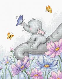 Elephant with Butterfly Aida Luca-S Telpakket