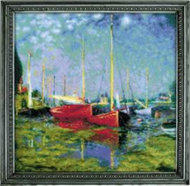 Argenteuil after C. Monet's Painting Aida Borduurpakket - Riolis