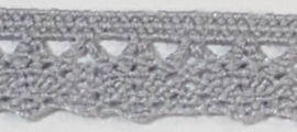 "Grey 11mm/0.4"" Lace p.m./per 3.3feet"