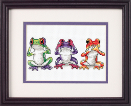 Tree Frog Trio Aida Borduurpakket Dimensions