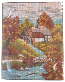 Water Mill Pre Printed Canvas Vervaco