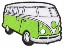 Fel Groene Volkwagen Bus Opstrijkbare Applicatie