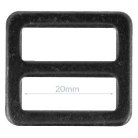20mm Gesp metaal Gun Black