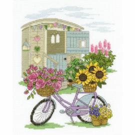 Flowery Bicycle Aida telpakket - DMC