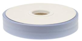 Licht blauw gevouwen biaisband 20 mm
