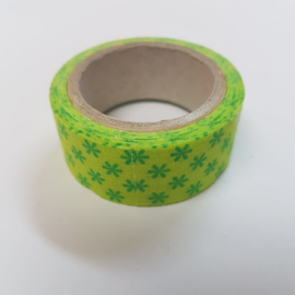Groene Bloemetjes 2mx20mm Pimptape Oaki Doki