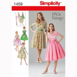 1459 K5 Vintage 1950s Jurk met Variaties Simplicity maat 34-42