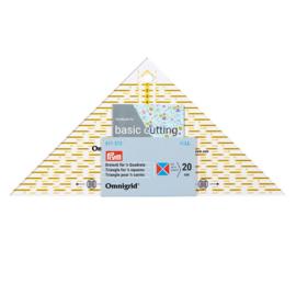 611313 Driehoek voor 1-4 kwadraad tot 20cm Omnigrid Prym