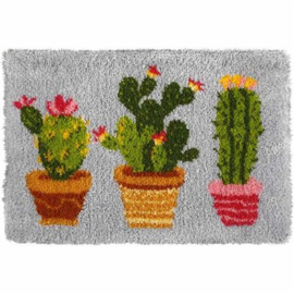 Cactus Latch-Hook Rug Kit Orchidea