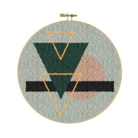 Abstract met gouddraad Punch Needle pakket - Restyle
