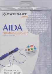Grijze Marmer Vintage Aida 14ct - 5,4 kr/cm Zweigart 48x53cm