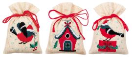 Kerstvogeltje en huisje Kruidenzakjes - Vervaco
