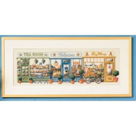 Shoppingstreet aida borduurpakket - Permin of kopenhagen
