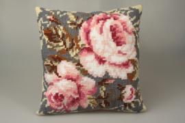 Timeless Pinks voorbedrukt Kruissteekkussen Collection D'Art