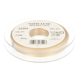 27 3mm Lint Satin Luxe Double face p.m.