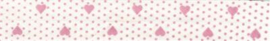 Roze Hartjes Fantasie Biais band Fillawant