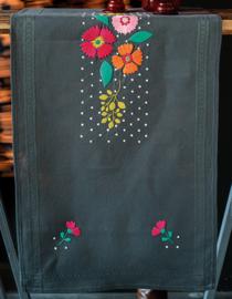 Tafelloper Kleurige bloemen Voorbedrukt - Vervaco