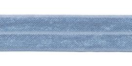 Licht Blauw 20mm Elastisch Biaisband