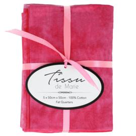 01 Gewolkte Bundel roze tinten Tissu de Marie
