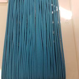 630 Turquoise 3mm Imitatieleer Band  p.m.