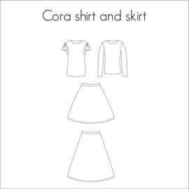 Cora shirt & rok voor Dames en Tieners - Bel'Etoile