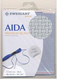 Oud Blauw Aida 16ct-6.4kr/cm 48x53cm Voorgesneden