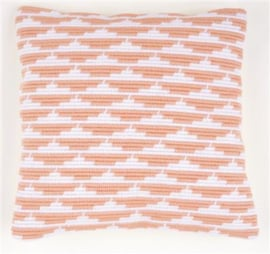 Waves Angled Clamping Stitch Cushion Canvas La Maison Victor