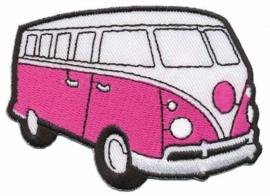 Roze Volkswagen Bus Opstrijkbare Applicatie