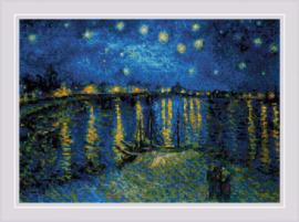 Starry Night Over Rhone after Van Gogh's Paining Aida Borduurpakket Riolis