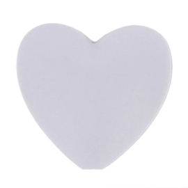 Licht grijze hartjes Siliconen kralen Opry