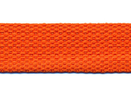 Oranje 25mm Cotton Look Tassenband