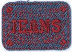 76v9 Red Jeans ReStyle Applique Patch
