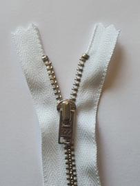12cm Broekrits fijn Zilver YKK (niet deelbaar)