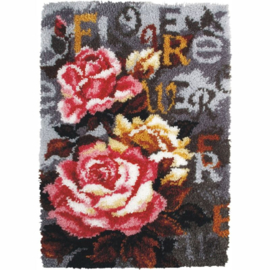 Flowers Latch Hook Rug Orchidea