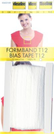 White Bias Tape T12 Vlieseline