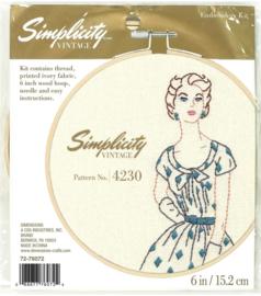 Simplicity Vintage Pattern No. 4230 Eavenwave Dimensions