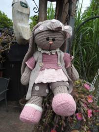 XXL Funny Bunny kledingset Dots Pastel Haakpakket