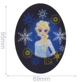Elsa met Sneeuwvlokjes Frozen Opstrijkbare Applicatie