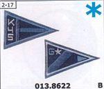 22V Blue Flags ReStyle Applique Patch